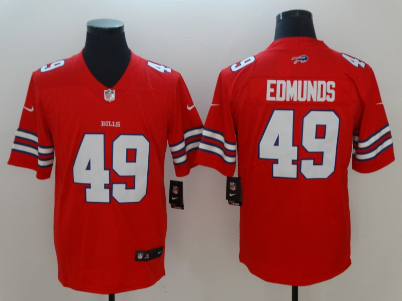 Nike Bills 49 Tremaine Edmunds Red Vapor Untouchable Limited Jersey