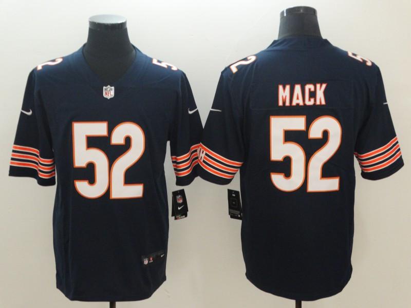 Nike Bears 52 Khalil Mack Navy Vapor Untouchable Limited Jersey