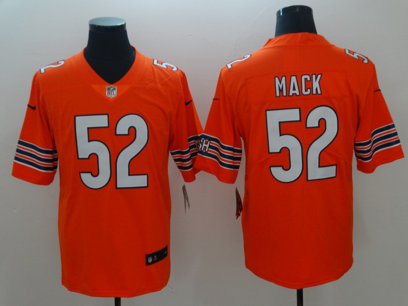 Nike Bears 52 Khalil Mack Orange Alternate Vapor Untouchable Limited Jersey