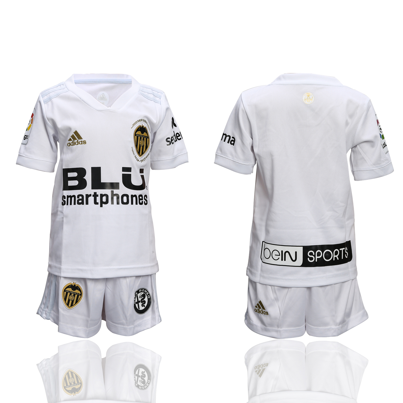 2018-19 Valencia Home Youth Soccer Jersey