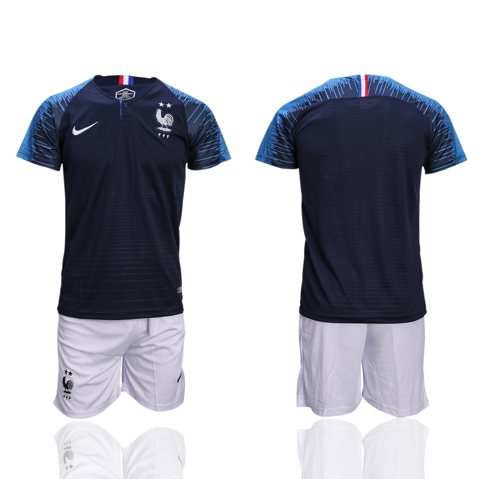 France Home 2-Star 2018 FIFA World Cup Soccer Jersey