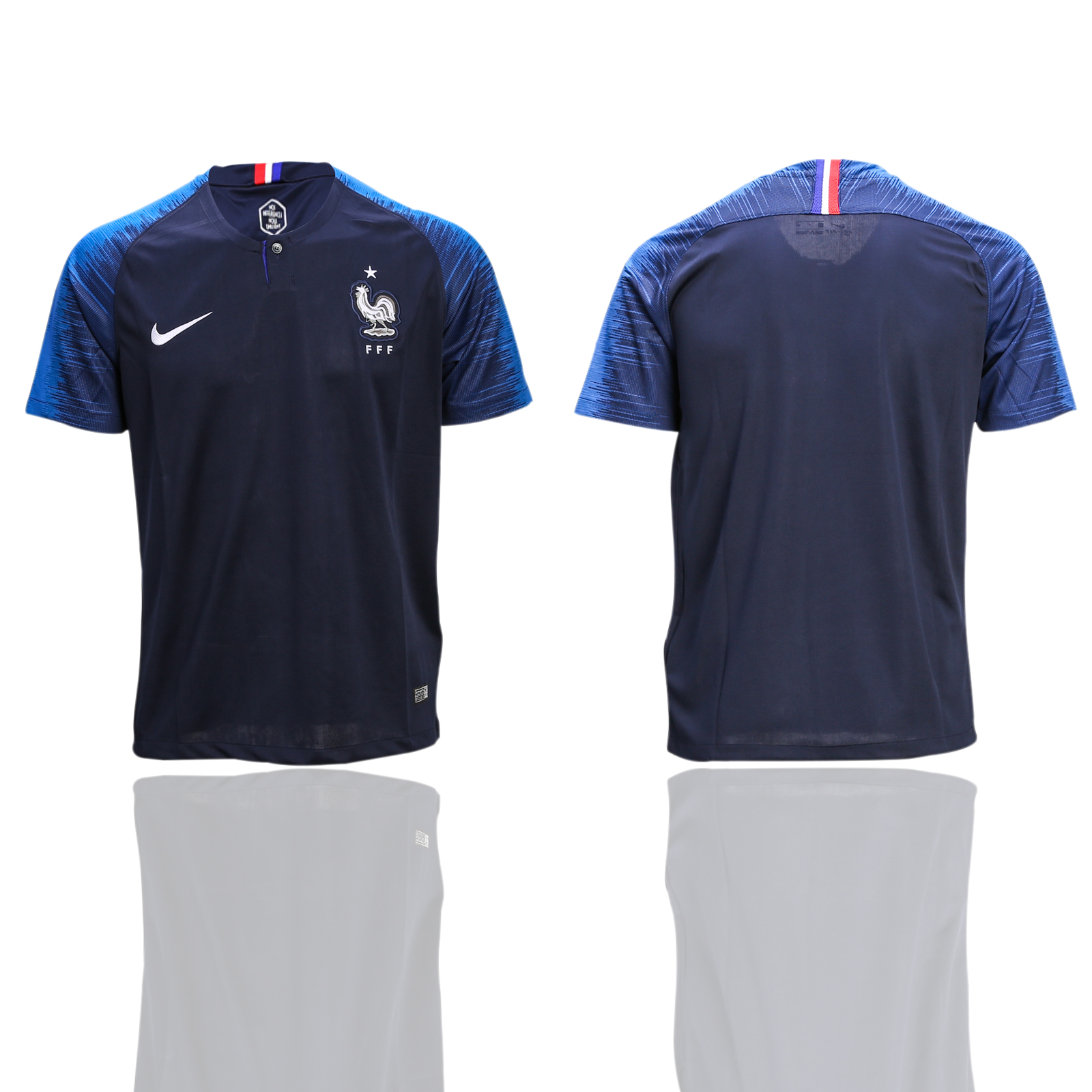 France Home 2-Star 2018 FIFA World Cup Thailand Soccer Jersey