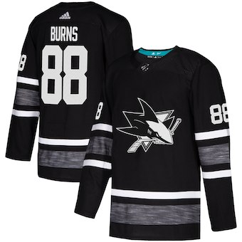 Sharks 88 Brent Burns Black 2019 NHL All-Star Game Adidas Jersey