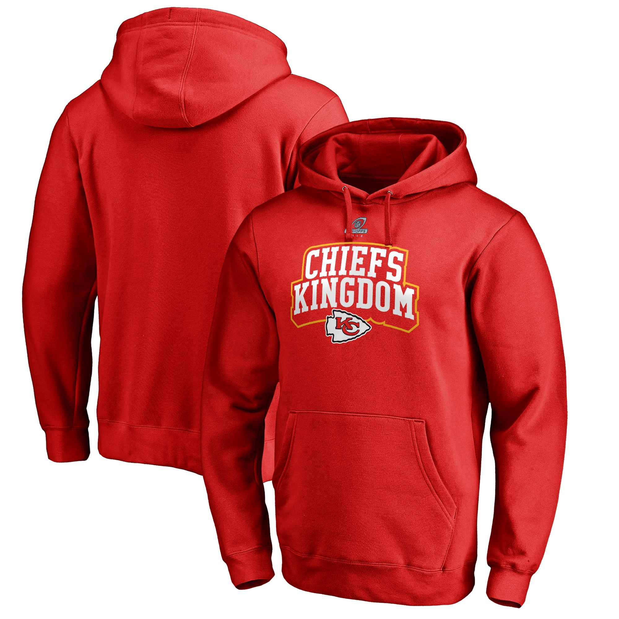 Chiefs Red 2018 NFL Playoffs Chiefs Kingdom Men's Pullover Hoodie
