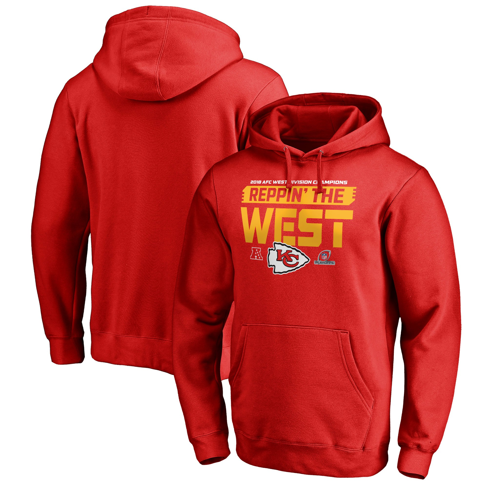 Chiefs Red 2018 NFL Playoffs Men's Pullover Hoodie