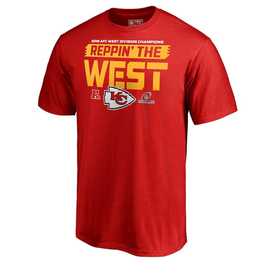 Chiefs Red 2018 NFL Playoffs Reppin' The West Men's T-Shirt