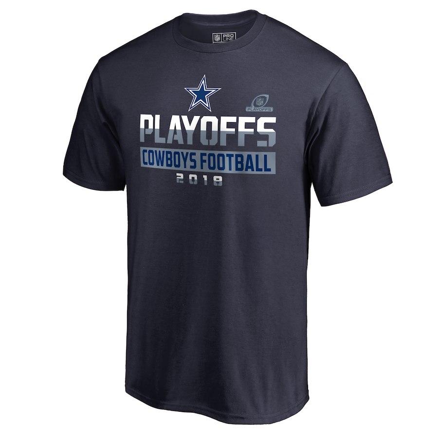 Cowboys Navy 2018 NFL Playoffs Cowboys Football 2018 Men's T-Shirt