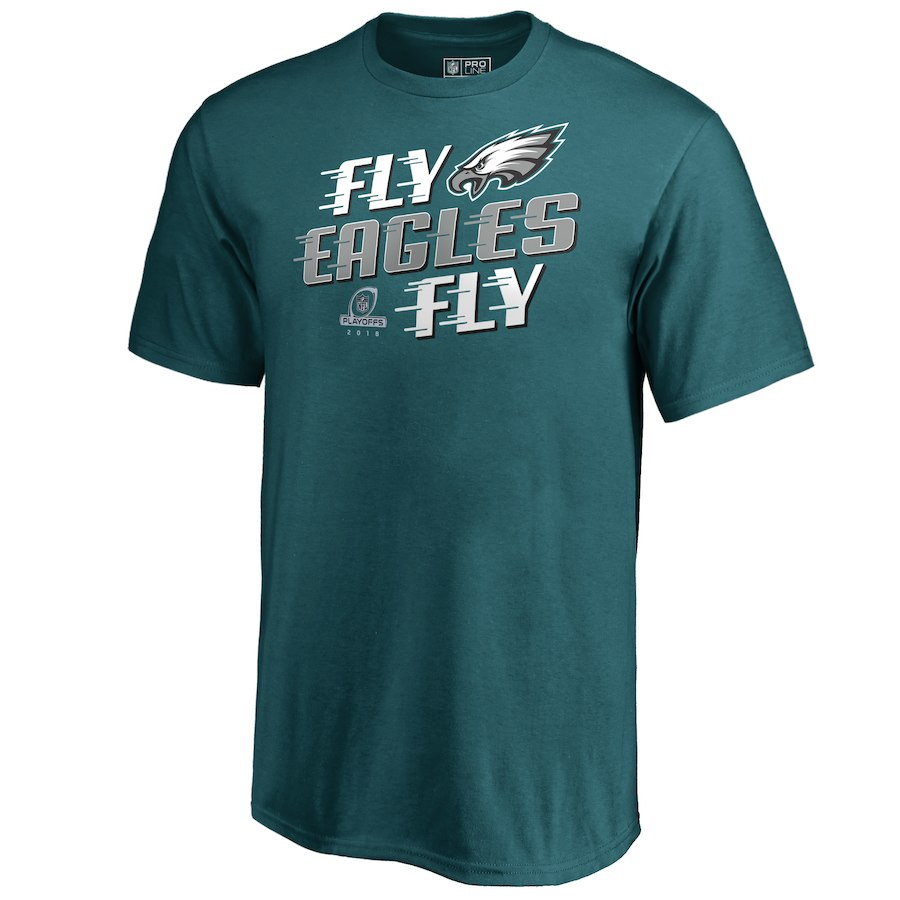 Eagles Green 2018 NFL Playoffs Fly Eagles Fly Men's T-Shirt