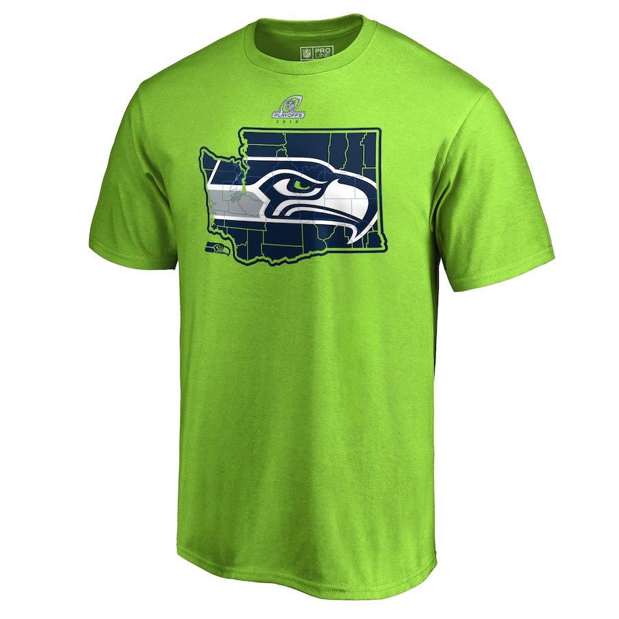 Seahawks Green 2018 NFL Playoffs Men's T-Shirt
