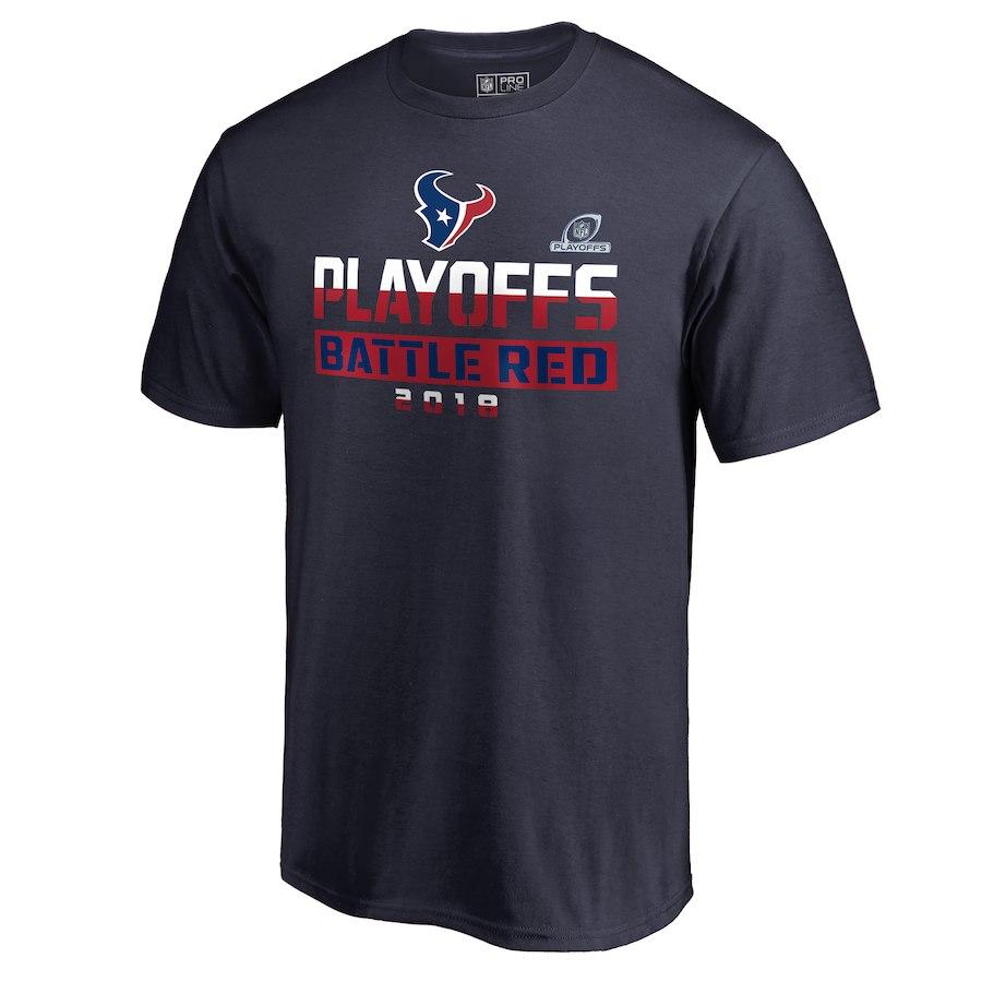 Texans Navy 2018 NFL Playoffs Battle Red Men's T-Shirt