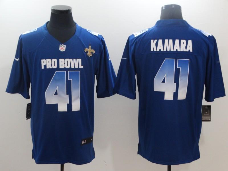 Nike NFC Saints 41 Alvin Kamara Royal 2019 Pro Bowl Game Jersey