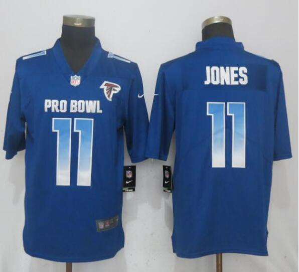 Nike NFC Falcons 11 Julio Jones Royal 2019 Pro Bowl Limited Jersey
