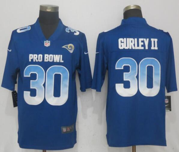 Nike NFC Rams 30 Todd Gurley II Royal 2019 Pro Bowl Limited Jersey