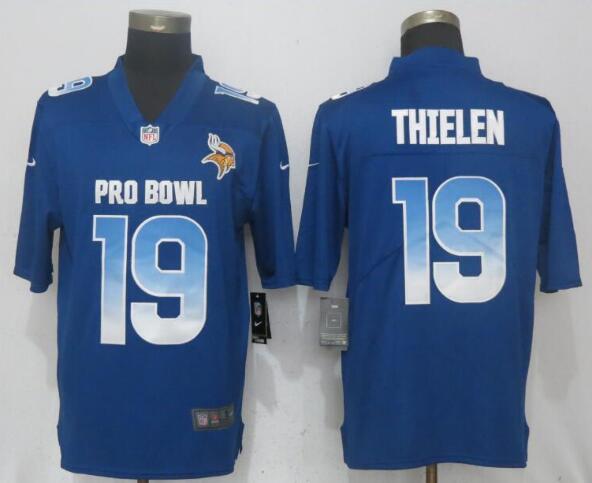 Nike NFC Vikings 19 Adam Thielen Royal 2019 Pro Bowl Limited Jersey