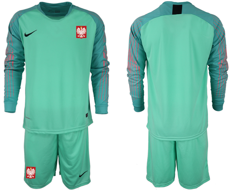 e1b72501578 Poland Green 2018 FIFA World Cup Long Sleeve Goalkeeper Soccer Jersey