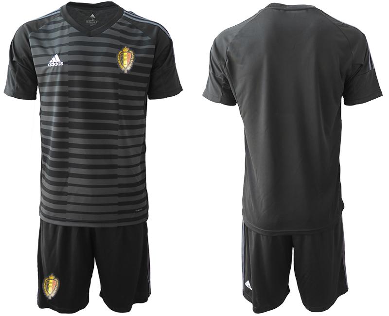 Belgium Black 2018 FIFA World Cup Goalkeeper Soccer Jersey