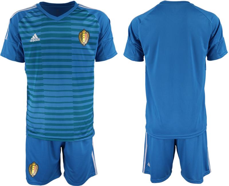 Belgium Blue 2018 FIFA World Cup Goalkeeper Soccer Jersey