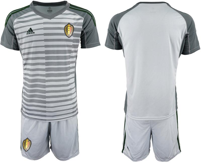 Belgium Gray 2018 FIFA World Cup Goalkeeper Soccer Jersey
