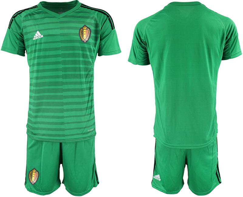 Belgium Green 2018 FIFA World Cup Goalkeeper Soccer Jersey