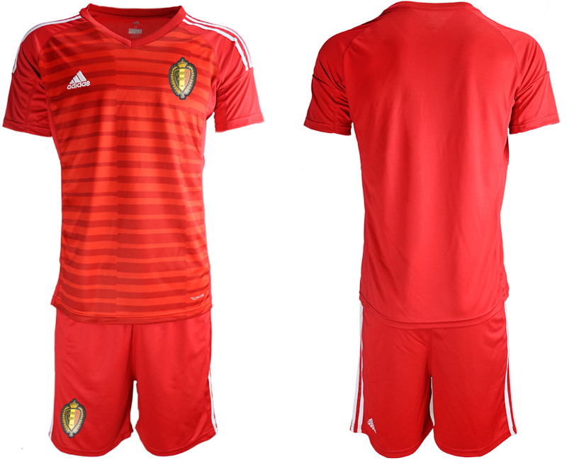 Belgium Red 2018 FIFA World Cup Goalkeeper Soccer Jersey