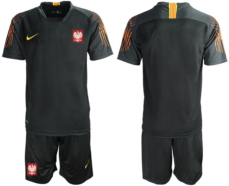 Poland Black 2018 FIFA World Cup Goalkeeper Soccer Jersey