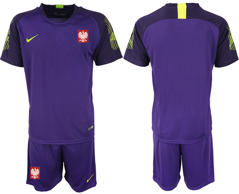 8c16b87e8 New Poland Purple 2018 FIFA World Cup Goalkeeper Soccer Jersey cheap ...