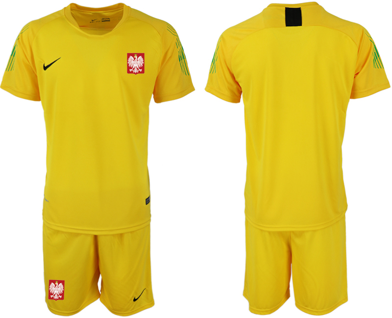 Poland Yellow 2018 FIFA World Cup Goalkeeper Soccer Jersey