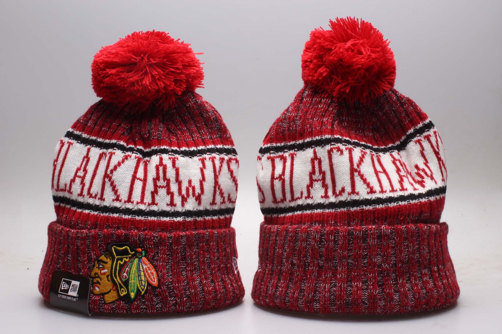 Blackhawks Fresh Logo Red Knit Hat YP