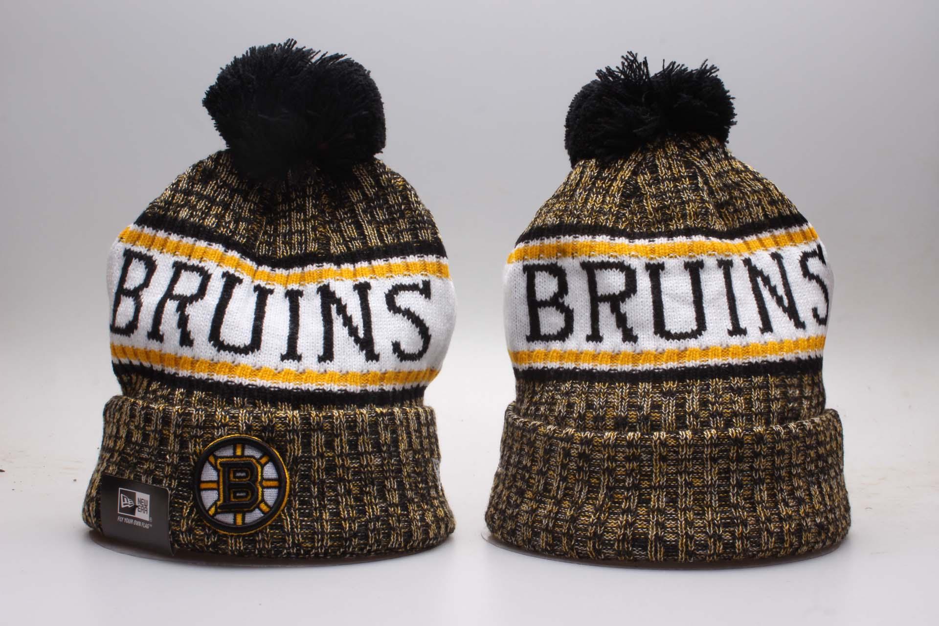 Bruins Fresh Logo Black Knit Hat YP