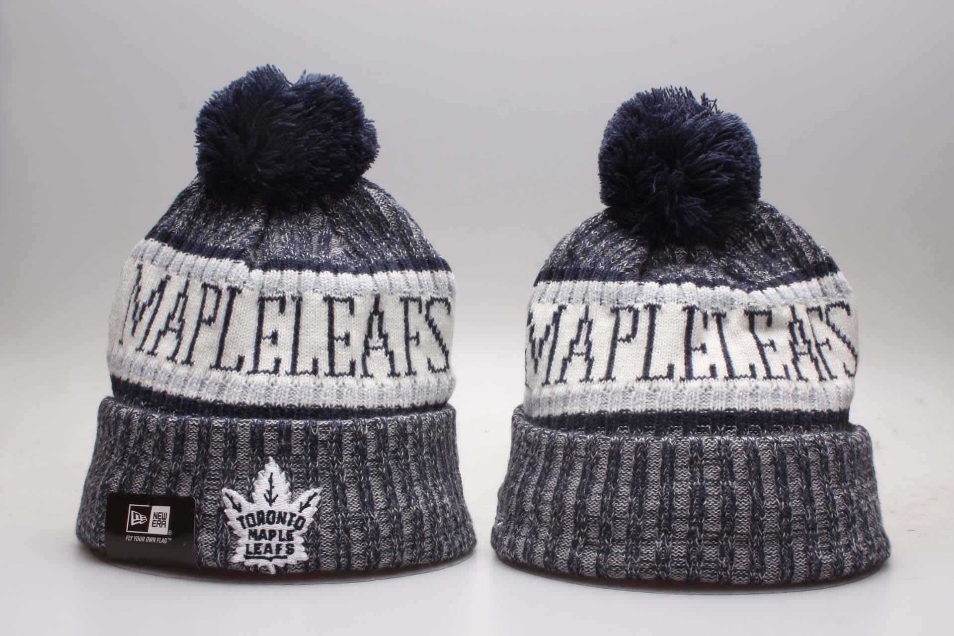 Maple Leafs Fresh Logo Navy Knit Hat YP