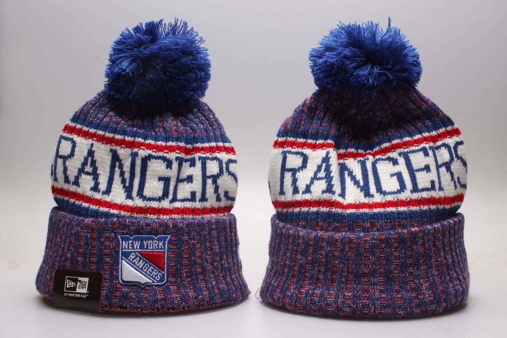 NY Rangers Fresh Logo Blue Knit Hat YP