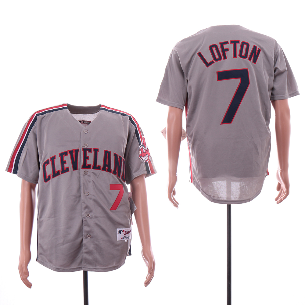 Indians 7 Kenny Lofton Gray Turn Back The Clock Jersey
