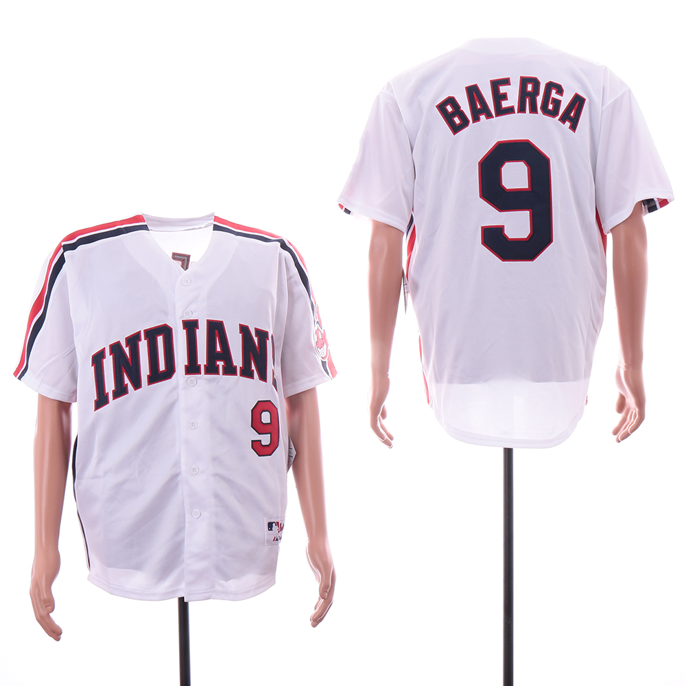 Indians 9 Carlos Baerga White Turn Back The Clock Jersey