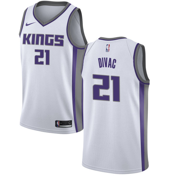 Kings 21 Vlade Divac White Association Edition Nike Swingman Jersey