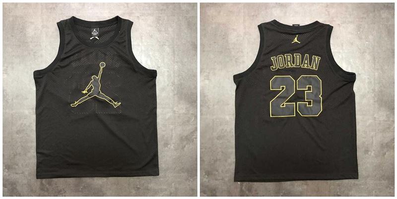 Jordan Logo #23 Black Mesh Basketball Jersey