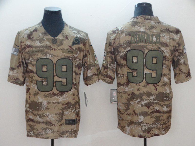 Nike Rams 99 Aaron Donald Camo Salute To Service Limited Jersey