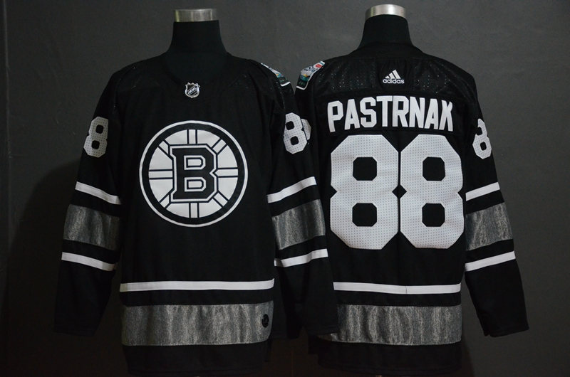 Bruins 88 David Pastrnak Black 2019 NHL All-Star Game Adidas Jersey