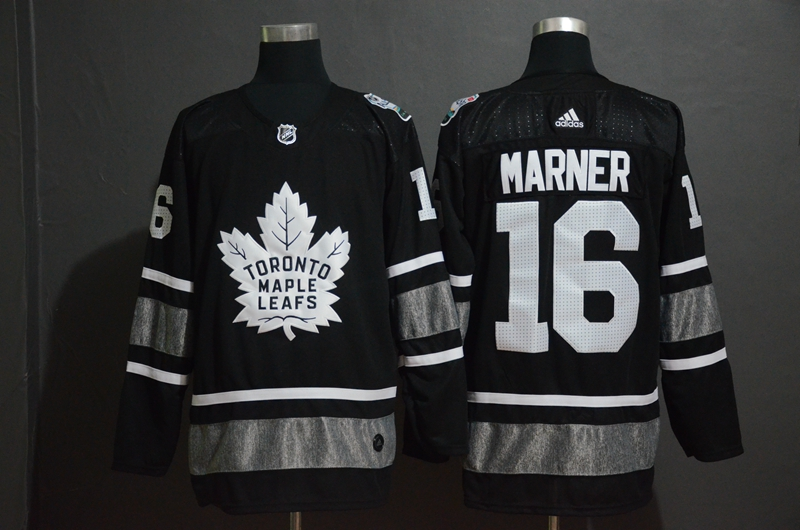 Maple Leafs 16 Mitch Marner Black 2019 NHL All-Star Game Adidas Jersey
