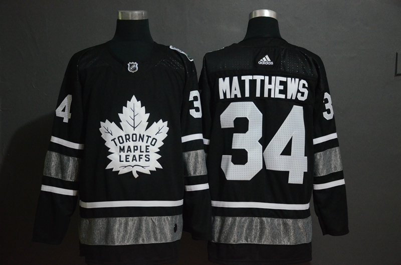 Maple Leafs 34 Auston Matthews Black 2019 NHL All-Star Adidas Jersey
