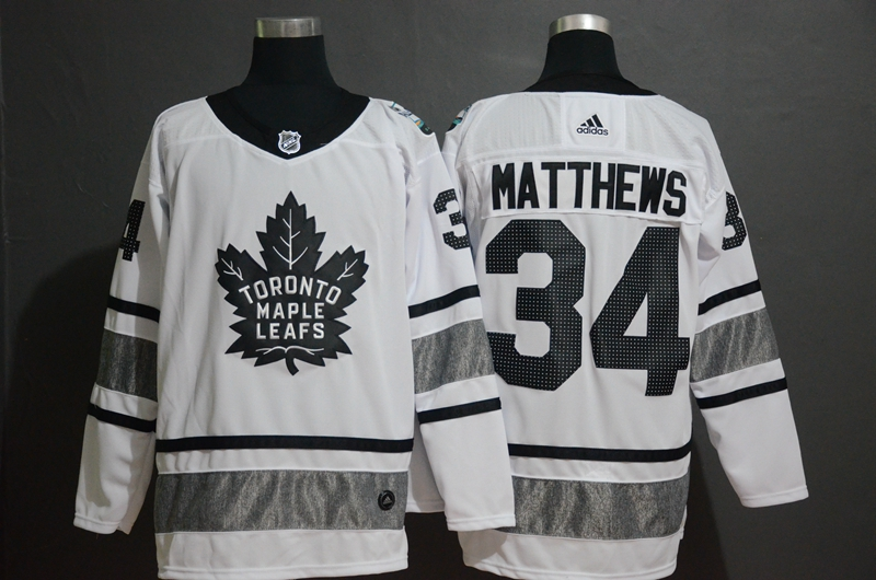 Maple Leafs 34 Auston Matthews White 2019 NHL All-Star Adidas Jersey