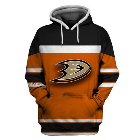 Ducks Orange All Stitched Hooded Sweatshirt