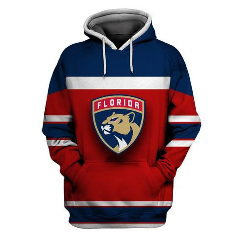 Florida Panthers Red Navy All Stitched Hooded Sweatshirt
