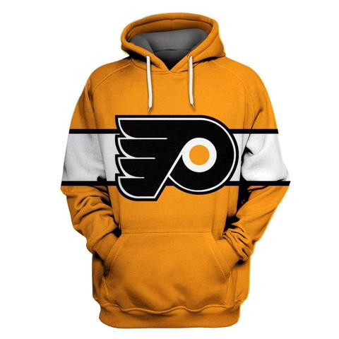 Flyers Gold All Stitched Hooded Sweatshirt
