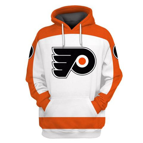 Flyers White All Stitched Hooded Sweatshirt