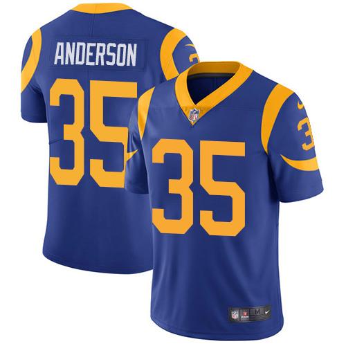 Nike Rams 35 C.J. Anderson Royal Vapor Untouchable Limited Jersey
