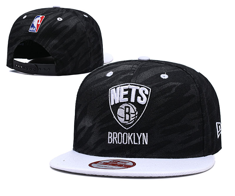 Brooklyn Nets Team Logo Black Adjustable Hat LH