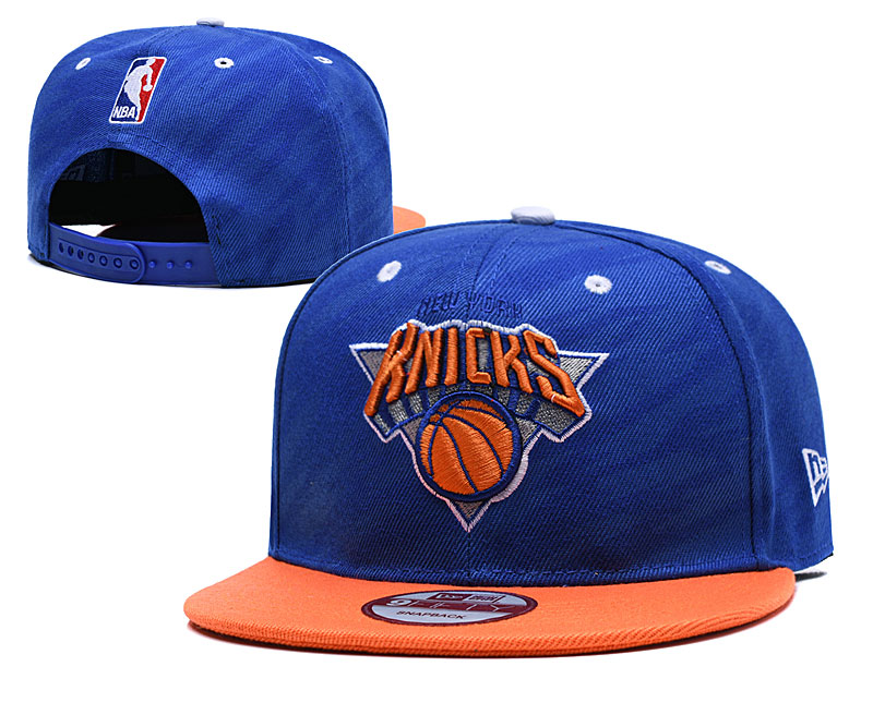 Knicks Team Logo Royal Adjustable Hat LH