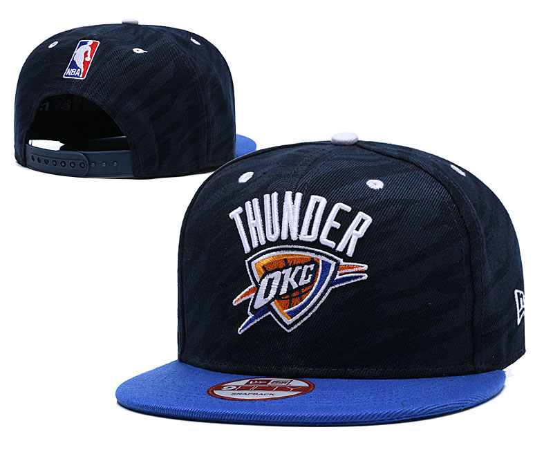 Thunder Team Logo Navy Adjustable Hat LH