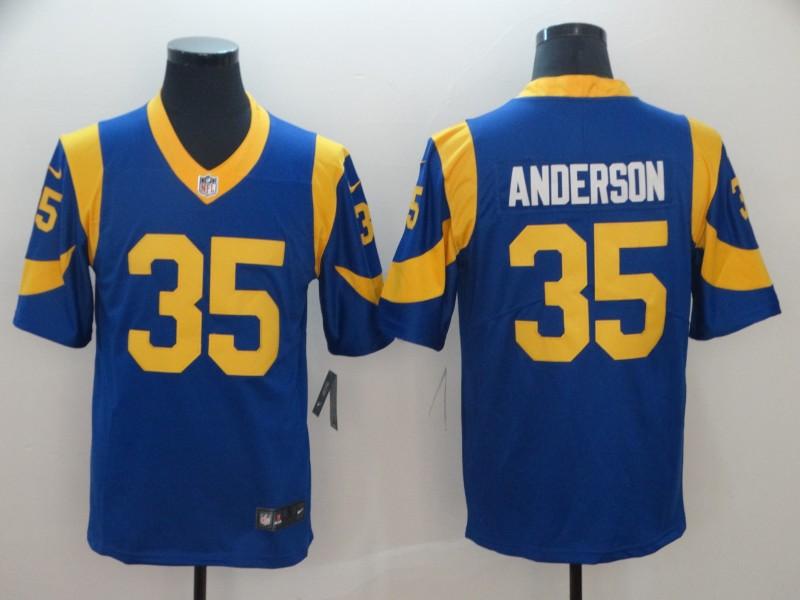 Nike Rams 35 C. J. Anderson Royal Vapor Untouchable Limited Jersey 211a992e8