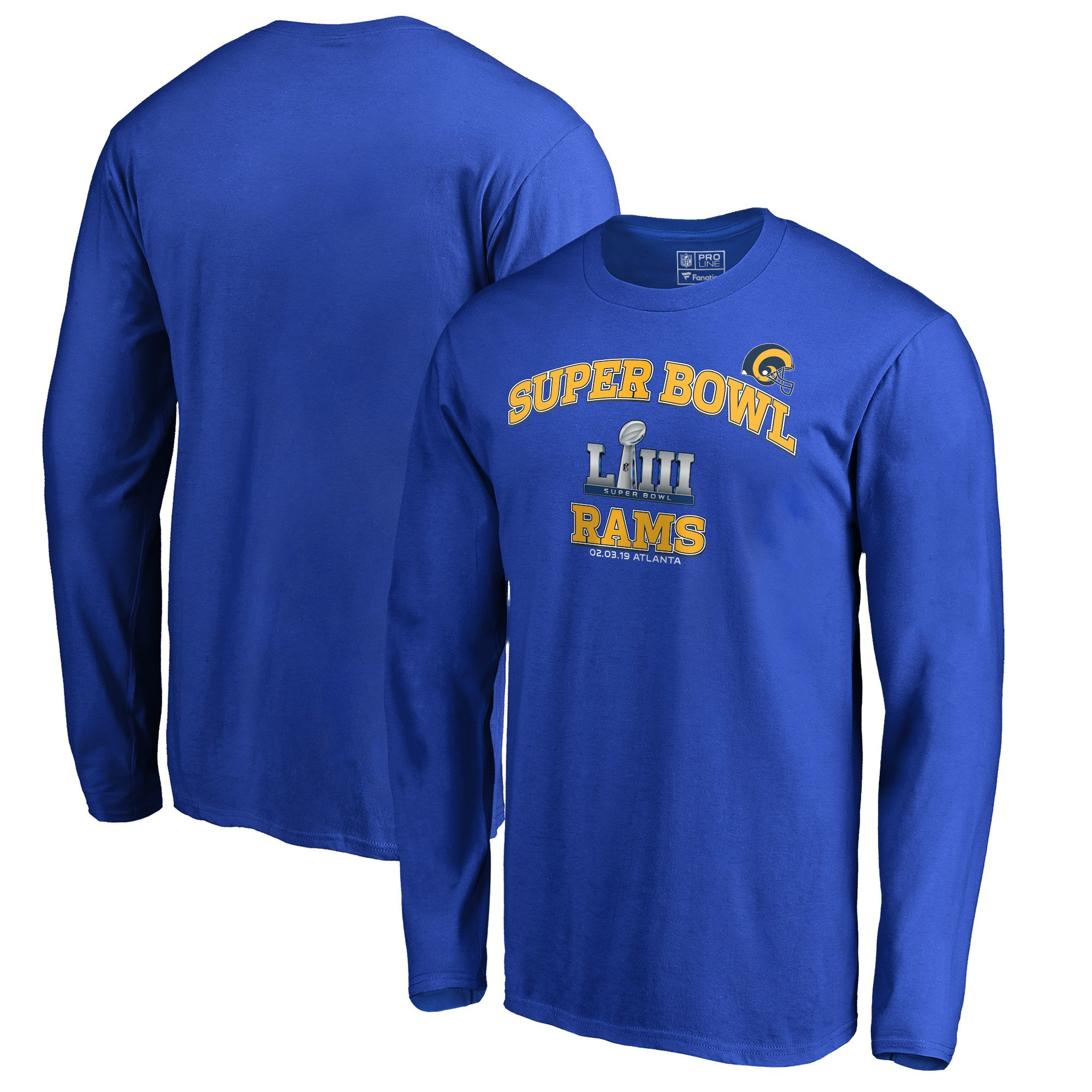 97ca22eea Los Angeles Rams NFL Pro Line by Fanatics Branded Super Bowl LIII Bound  Heart   Soul